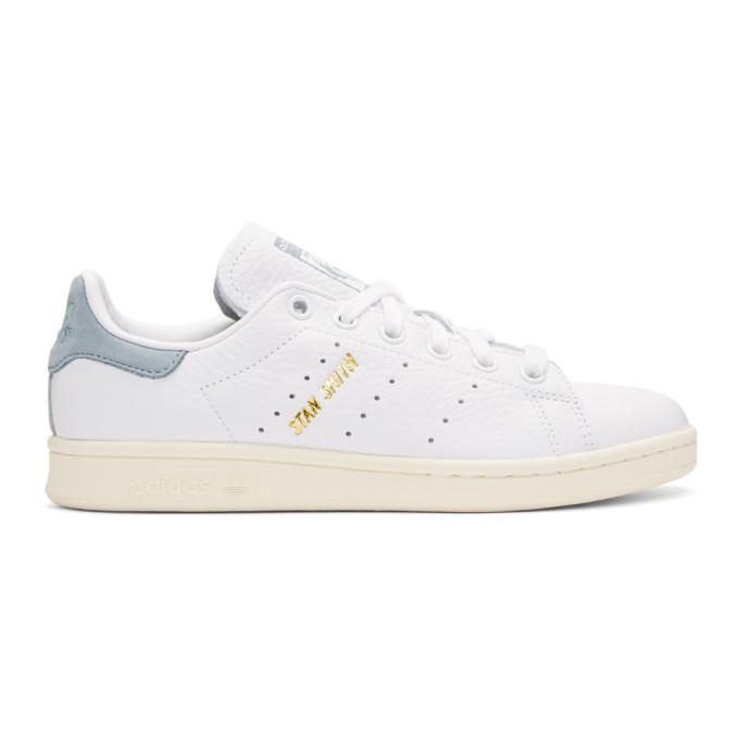adidas Originals x Pharrell Williams White & Blue Stan Smith Sneakers DwT1UTB