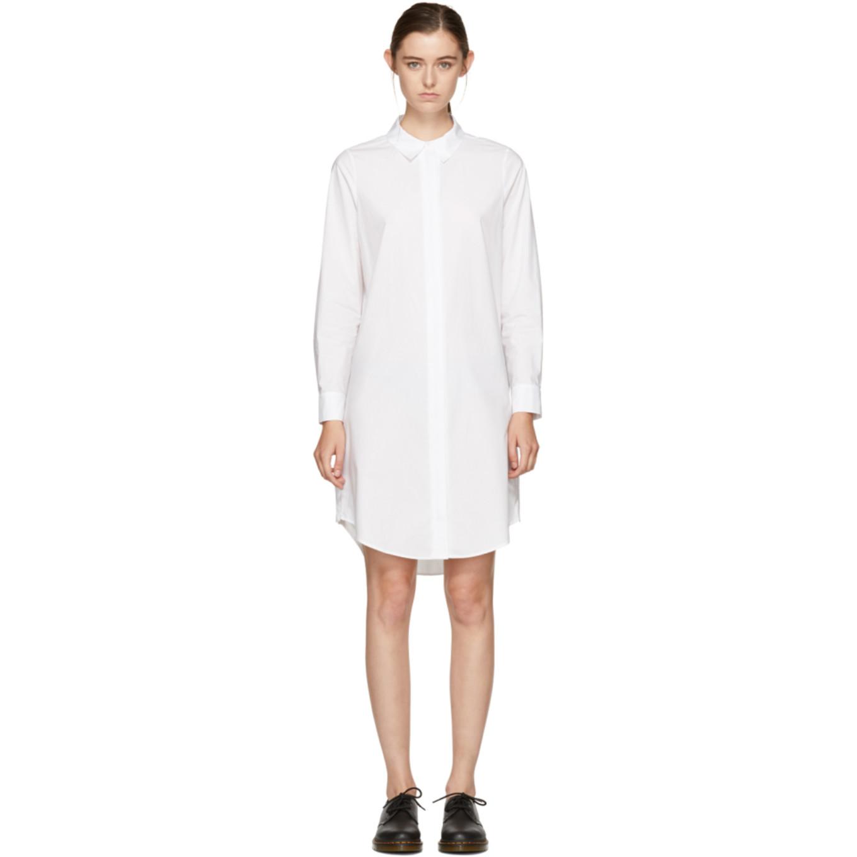 Shirt Alexander Zip By White T Dress Wang Shoptagr RAzwfSqz