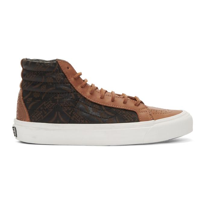 Brown Taka Hayashi Edition Og Sk8 Hi Lx Sneakers by Vans
