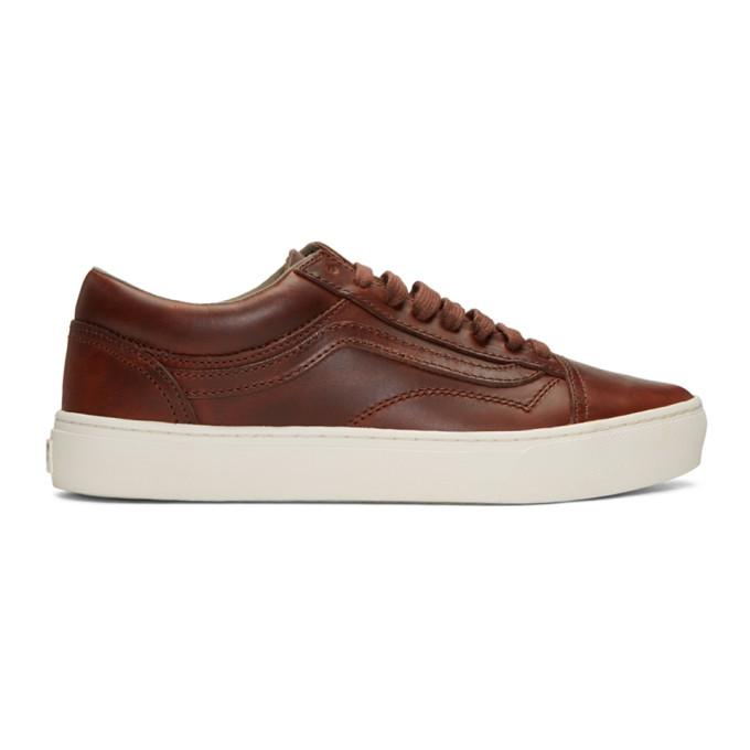 Brown Horween Edition Old Skool Cup Lx Sneakers by Vans