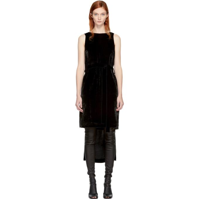 GARETH PUGH Black Velvet Cape Dress