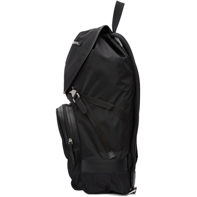 9a4f44a09f NEIL BARRETT Black Multipocket Nylon Backpack
