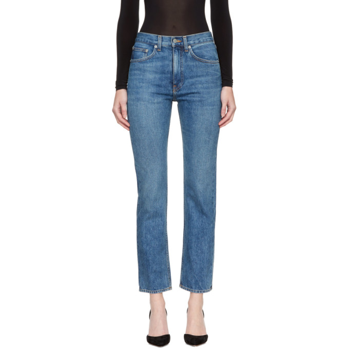 WRIGHT CLASSIC HIGH-WAIST CIGARETTE JEANS