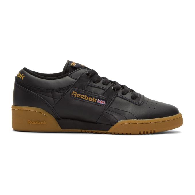 Black Workout Low Sneakers by Reebok Classics