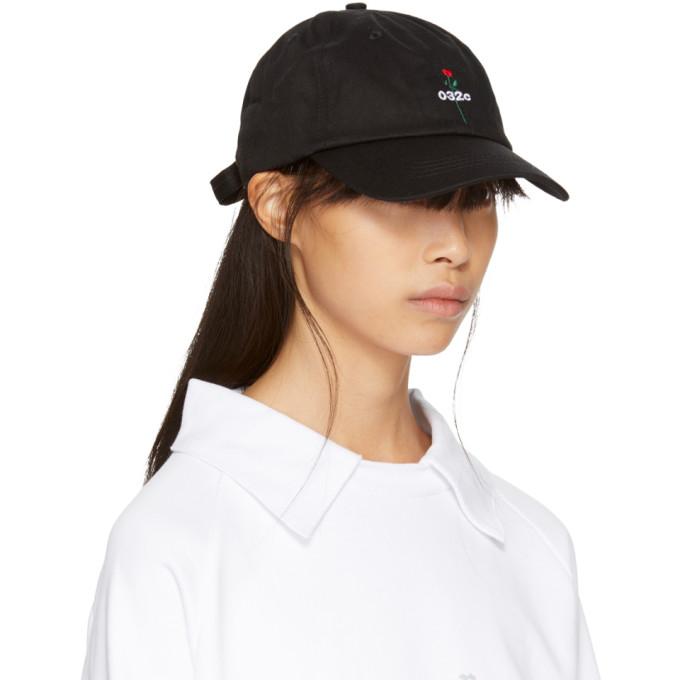 SSENSE Exclusive Black Rose Cap 032c