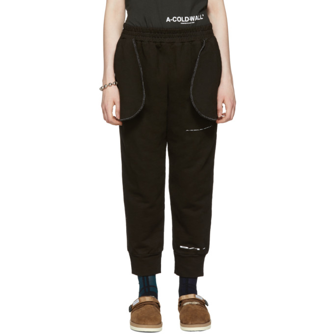 Black Compressed Logo Lounge Pants A-Cold-Wall*