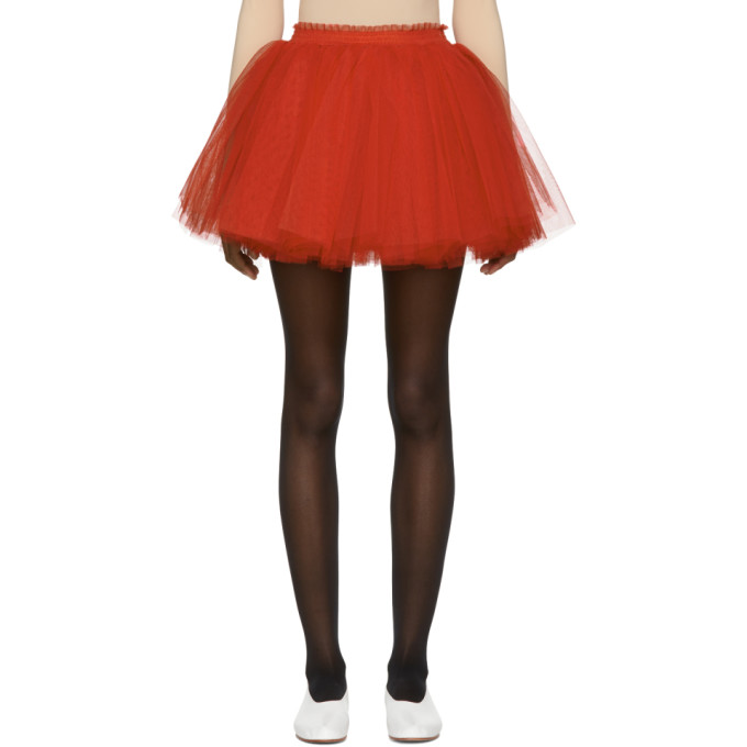 Red Me Miniskirt by Molly Goddard