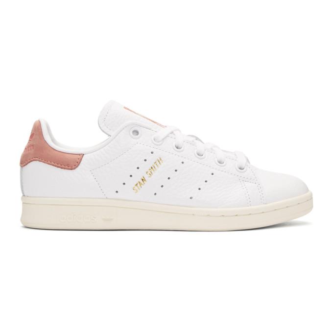 basket adidas stan smith blanche et rose