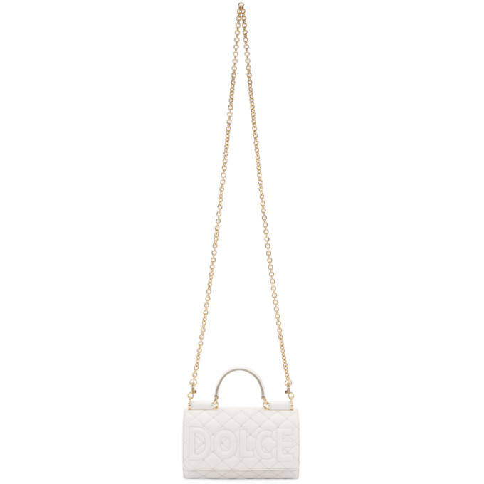 White Quilted Sicily Von Wallet Bag