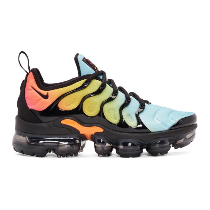 f07ab0b50d7 Nike Black   Blue Air Vapormax Plus Sneakers