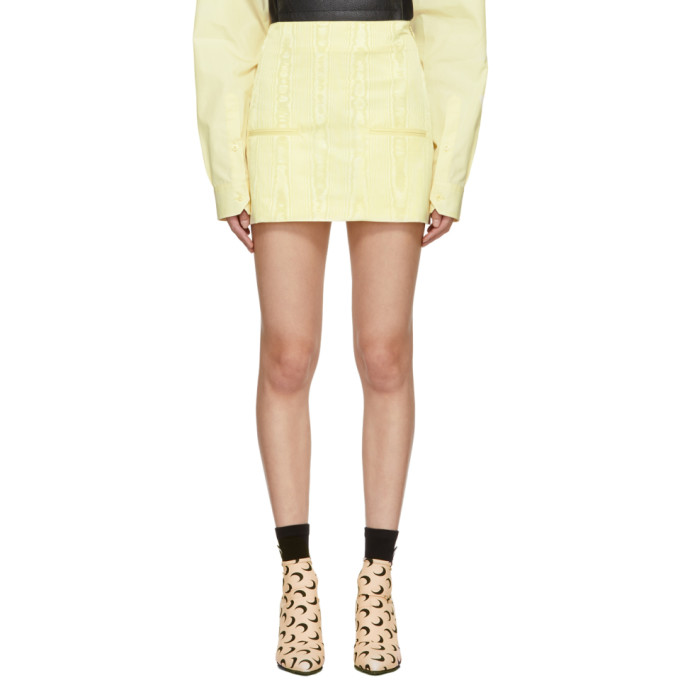 Yellow Cornerstones Miniskirt by Marine Serre