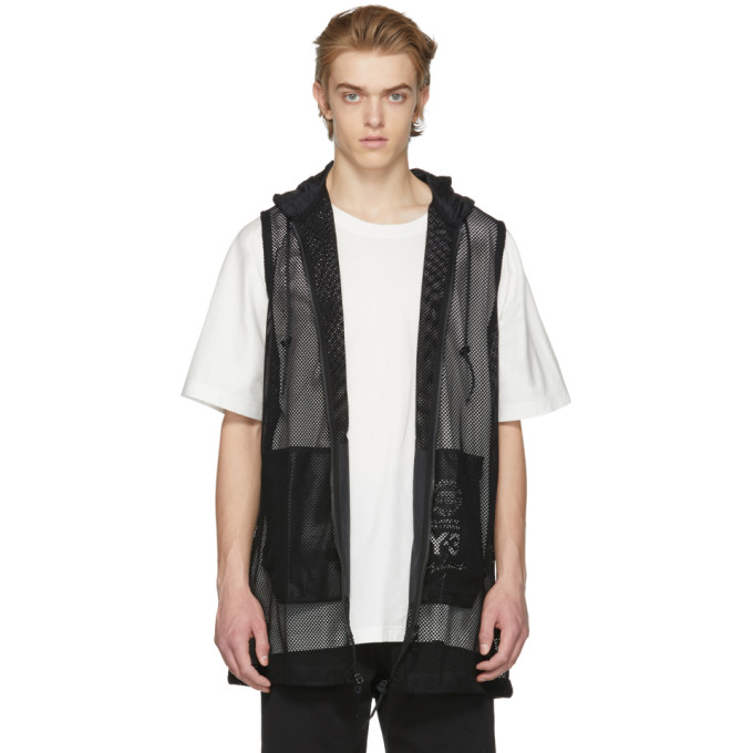 Black Mesh Vest by Y 3