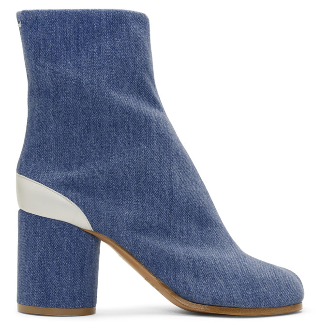 DENIM TABI ANKLE BOOTS