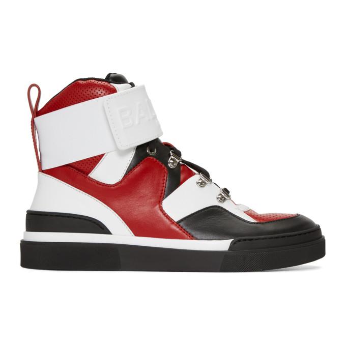 Black Cleveland High-Top Sneakers Balmain