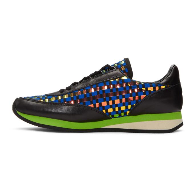 Blue Woven Hologram Sneakers Comme Des Gar?ons