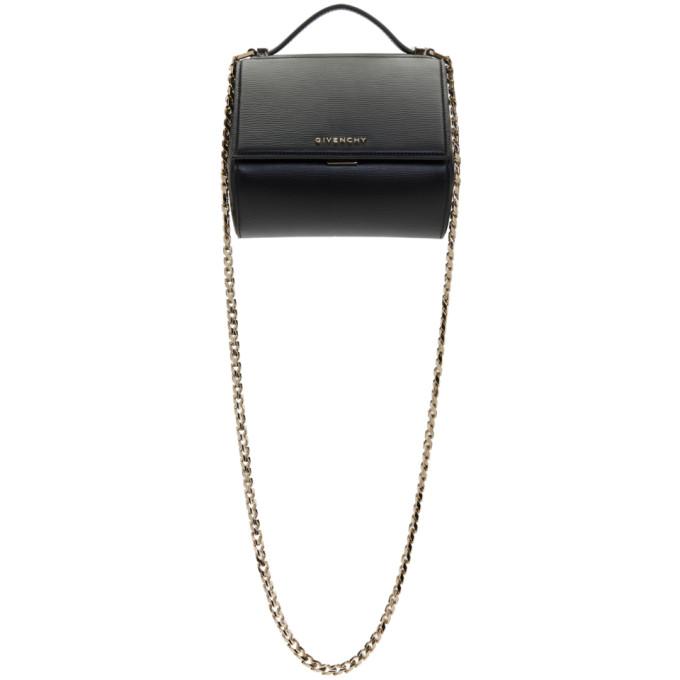 Givenchy 'mini Pandora Box - Palma' Leather Shoulder Bag - Black In 001 Black