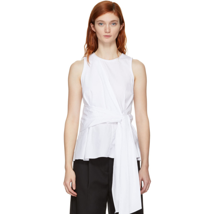White Twist Front Tank Top by 3.1 Phillip Lim