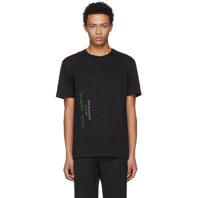 T Shirt Noir Joy Division by Raf Simons