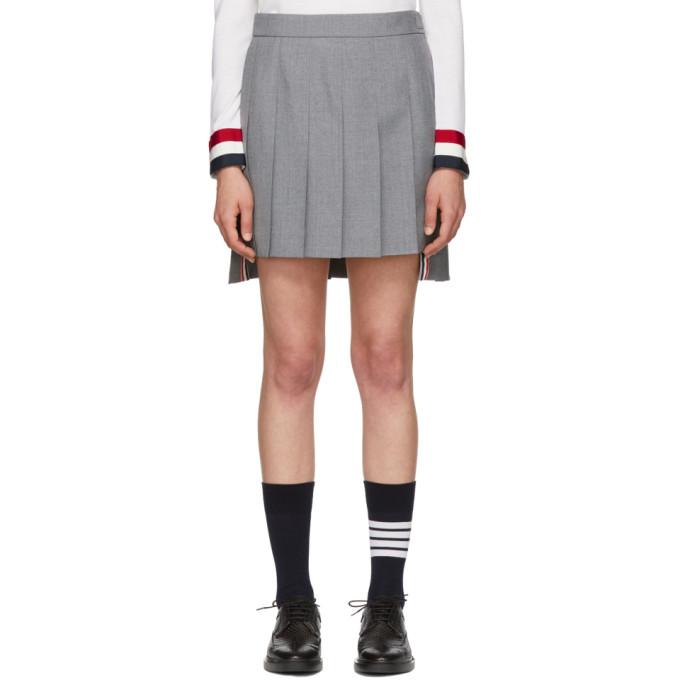 Dropped Back Mini Pleated Skirt In School Uniform Plain Weave