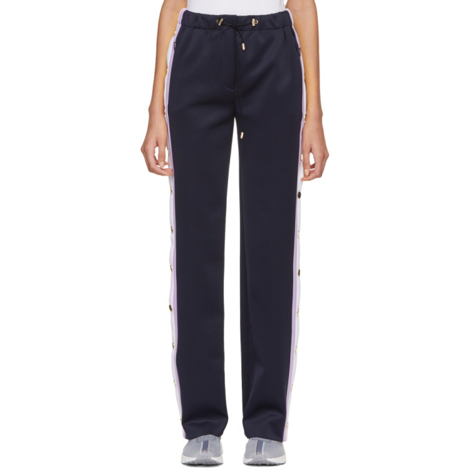 Versace  VERSACE BLUE BUTTON TRACK TROUSERS