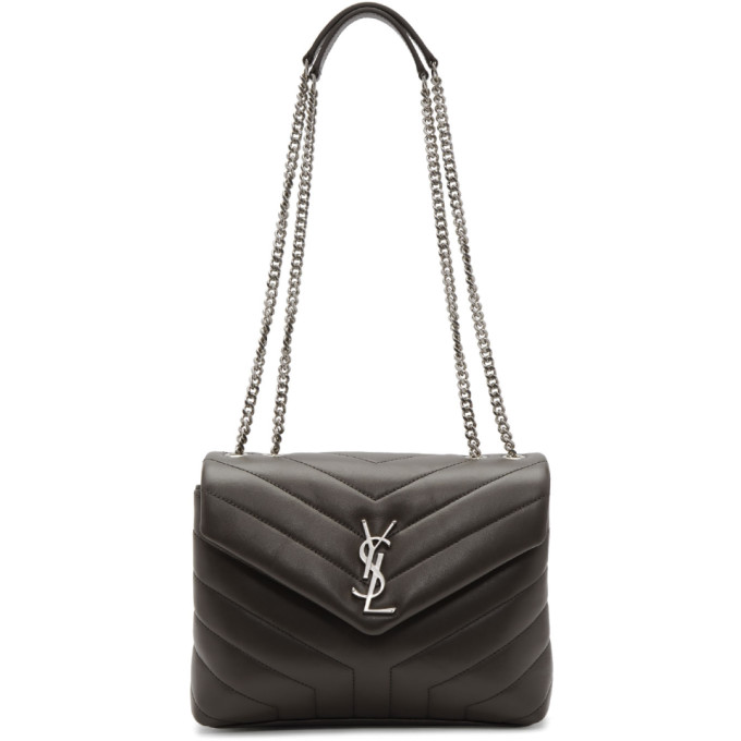 Grey Small Loulou Chain Bag