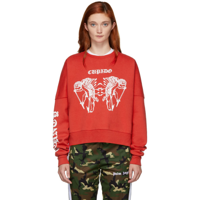 Red 'Cupido' Tattoo Sweatshirt