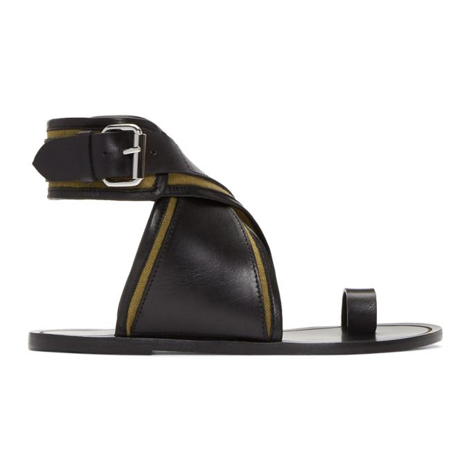 Isabel Marant Khaki Johen Ankle Wrap Sandals