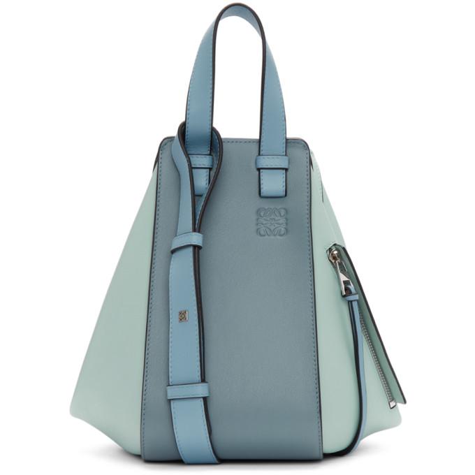 Loewe Leathers LOEWE BLUE SMALL HAMMOCK BAG