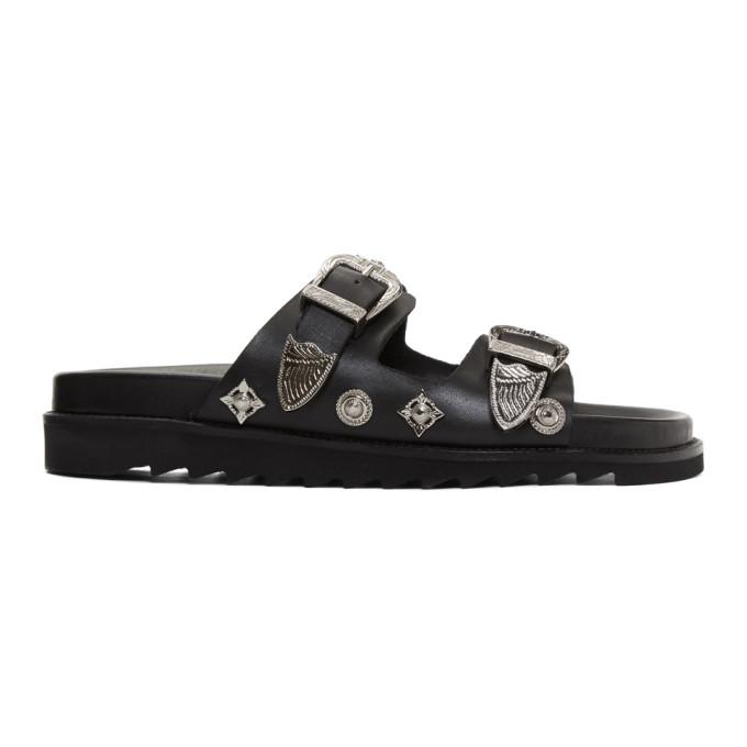 Toga Virilis Black Charm Sandals