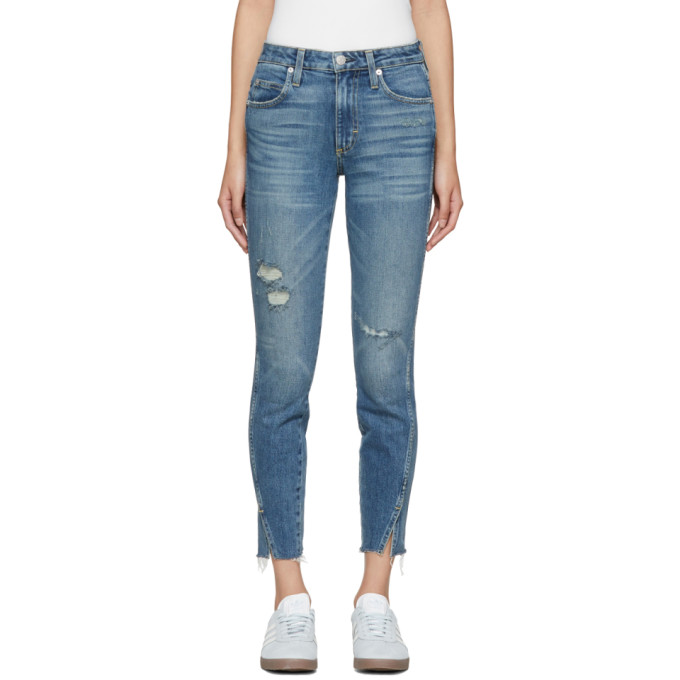 Amo AMO BLUE TWIST HIGH-RISE JEANS