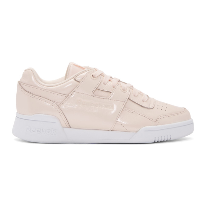 ea8b63a9608a4d pink-workout-lo-plus-iridescent-sneakers by reebok-classics