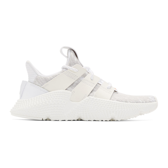 Prophere Faux Leather And Rubber-trimmed Stretch-knit Sneakers - White adidas Originals