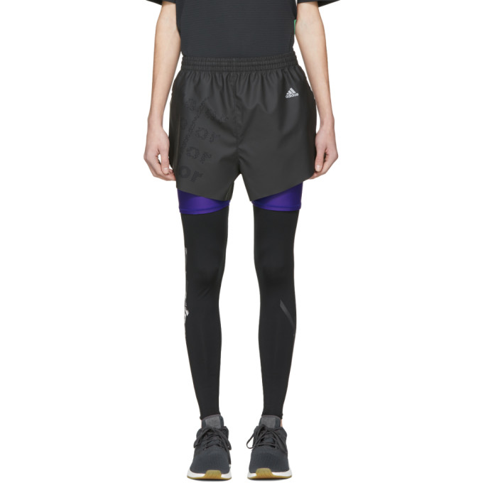Adidas X Kolor Black Coated Shorts