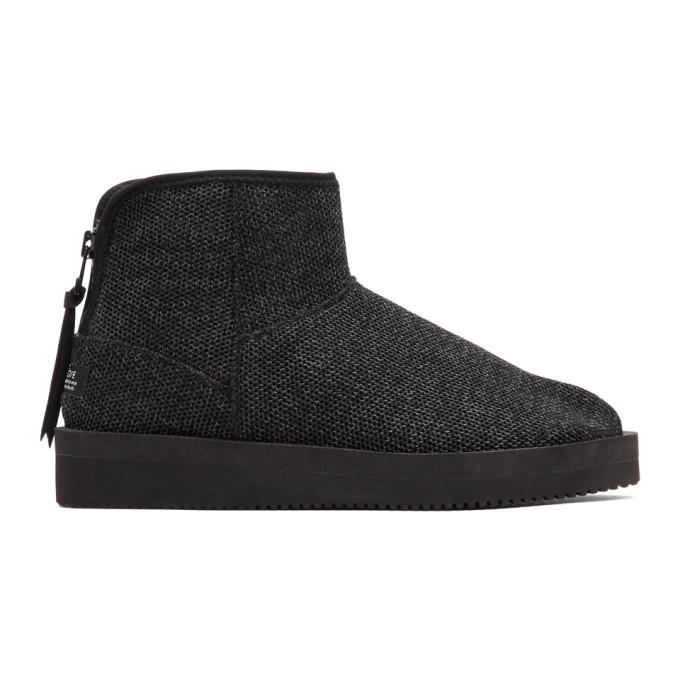 Black Toby Knit Boots Suicoke