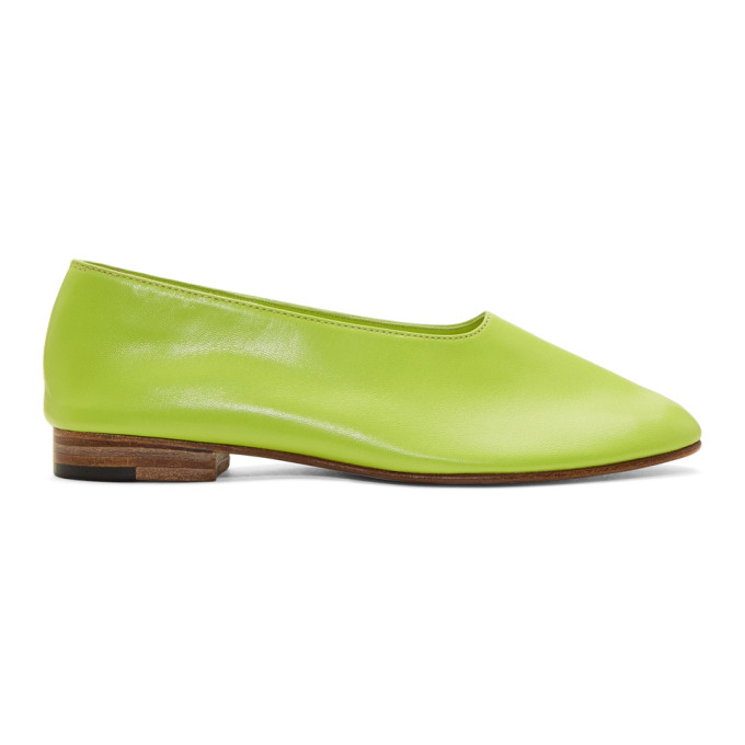 MARTINIANO Martiniano Green Glove Slippers in Grass