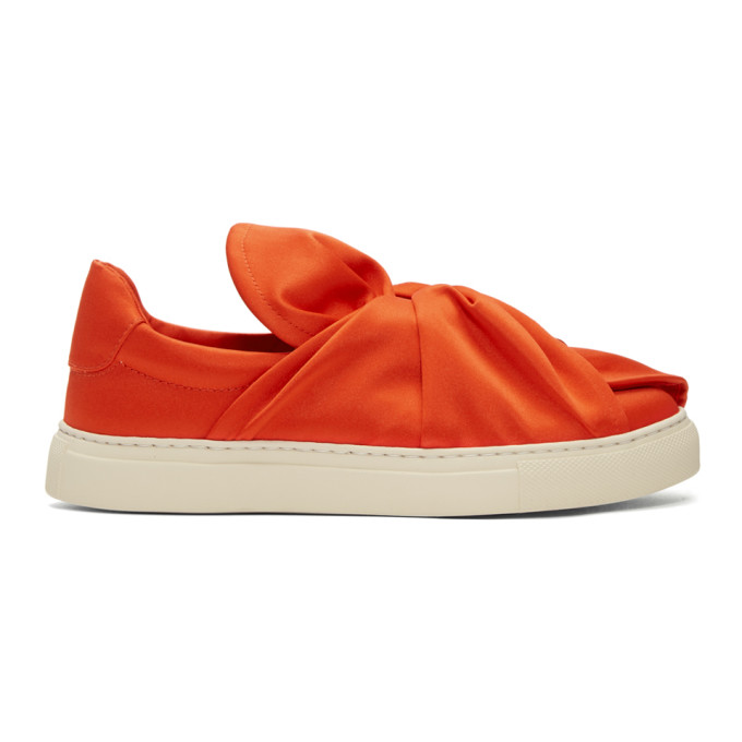 Ports 1961 PORTS 1961 RED SATIN BOW SLIP-ON SNEAKERS