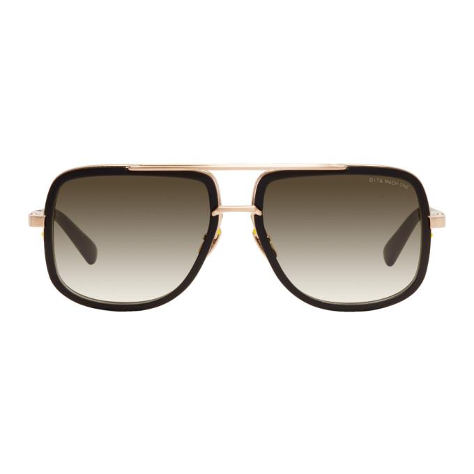 2d032a9cb32 Dita Black And Gold Mach One Sunglasses In Blk Gold