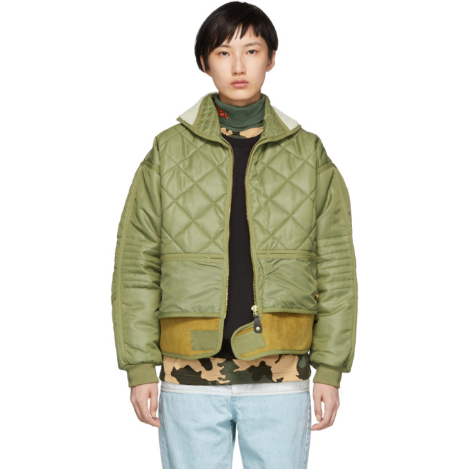 032C GREEN COSMO BOMBER JACKET