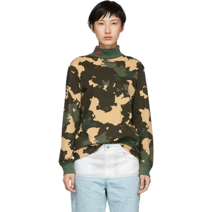 032C GREEN CAMOUFLAGE WWB TURTLENECK
