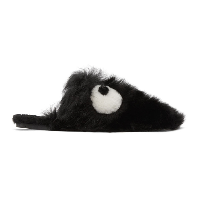 Anya Hindmarch Shearling Creeper Eyes Slippers