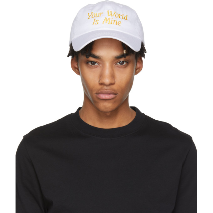 White 'your World Is Mine' Cap by Nasaseasons