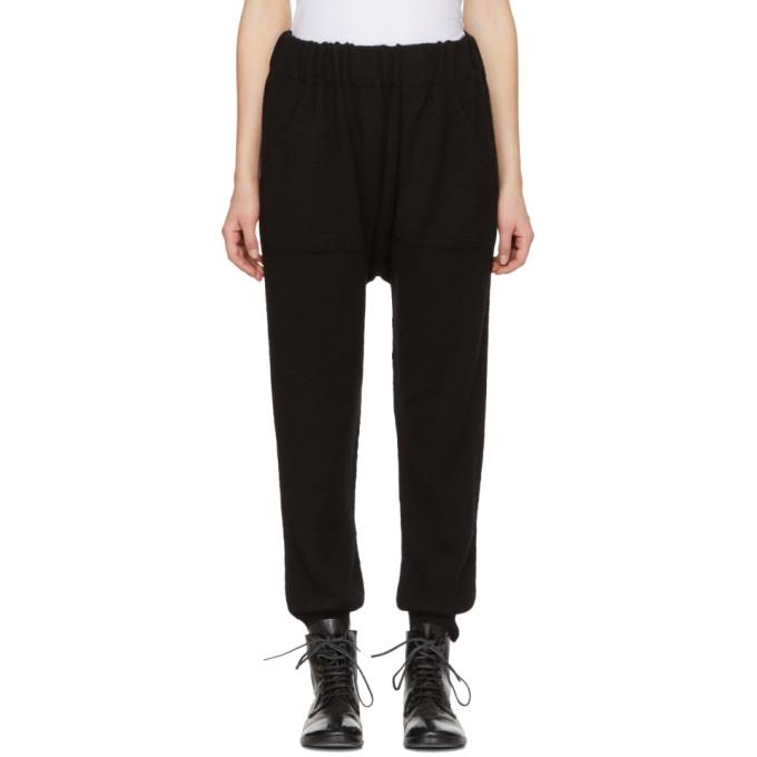 LAUREN MANOOGIAN Black Arch Lounge Pants