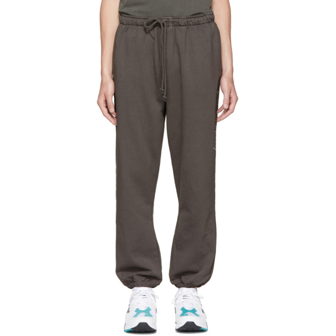 SECOND/LAYER GREY SCRIPT LOGO LOUNGE PANTS