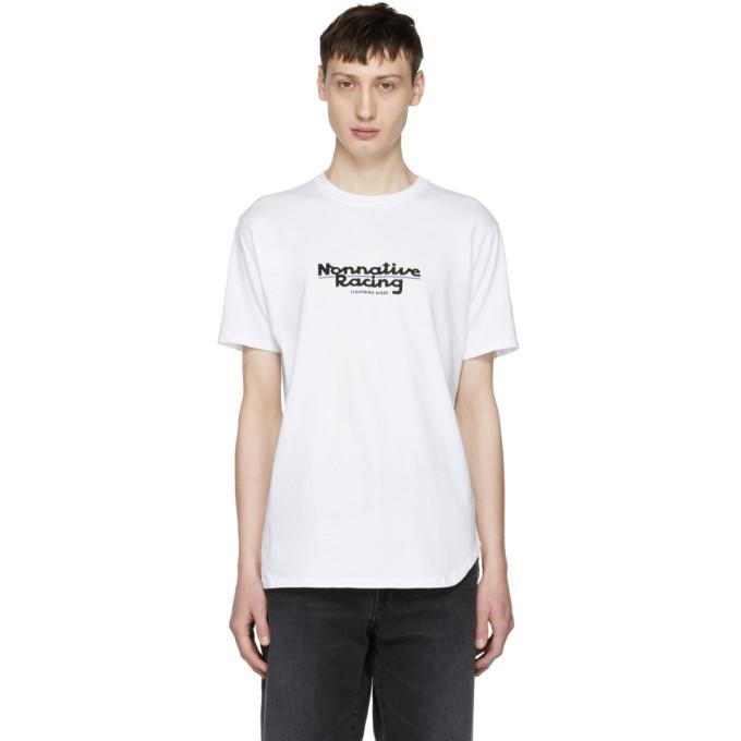 NONNATIVE Nonnative White Racing Logo T-Shirt