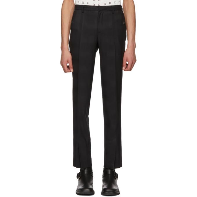 TAKAHIROMIYASHITA THE SOLOIST Takahiromiyashita Thesoloist. Black Tapered Trousers in 1 Black
