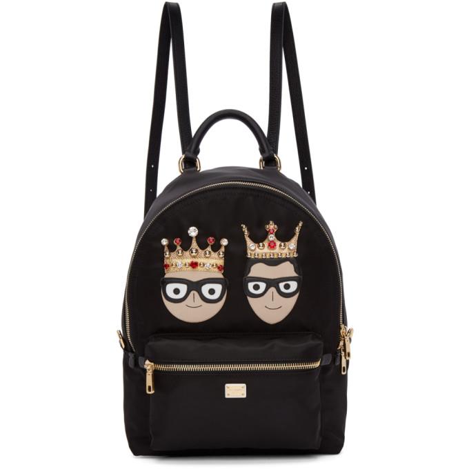 Black Nylon Family Backpack from SSENSE