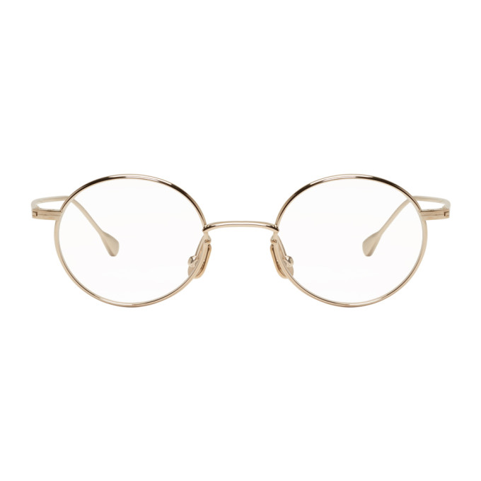 NATIVE SONS Native Sons Gold Round Orbit Glasses
