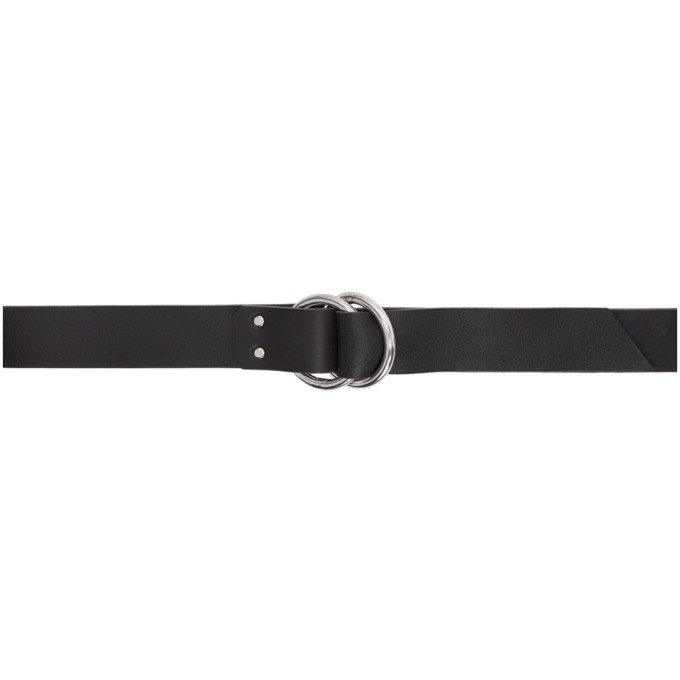 SULVAM Sulvam Black Ring Belt