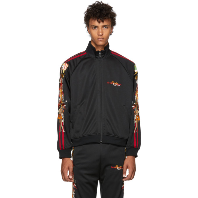 DOUBLET BLACK CHAOS EMBROIDERY TRACK JACKET