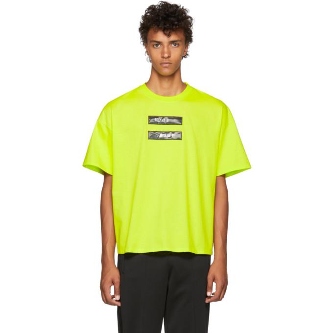 DOUBLET GREEN NO IMAGE LENTICULAR T-SHIRT